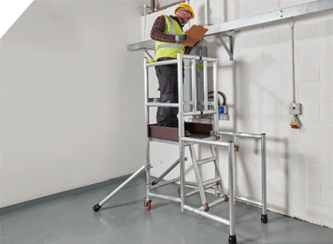 BoSS Pod Compact Mobile Access Podium - allow you to work facing any direction