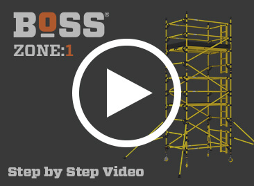 BoSS Zone:1 Fibreglass Access Tower - Watch Step by Step Video