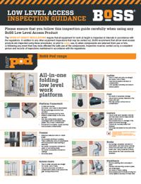 BoSS Low Level Access Inspection Guidance - BoSS Pod Range