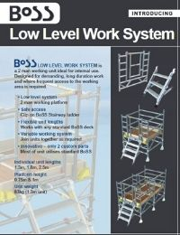 Low Level Work System Product Leaflet