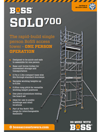 SOLO 700 Product Leaflet
