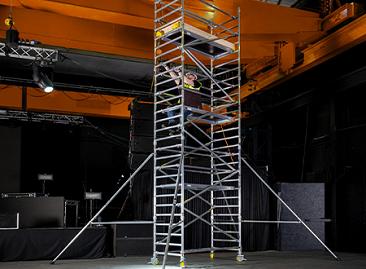 BoSS Clima Aluminium Access Towers - Easy climb rung spacing