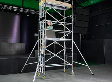BoSS Ladderspan Aluminium Access Towers - Integral Ladders for safe access