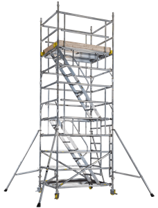BoSS Staircase Aluminium Access Tower - double width tower