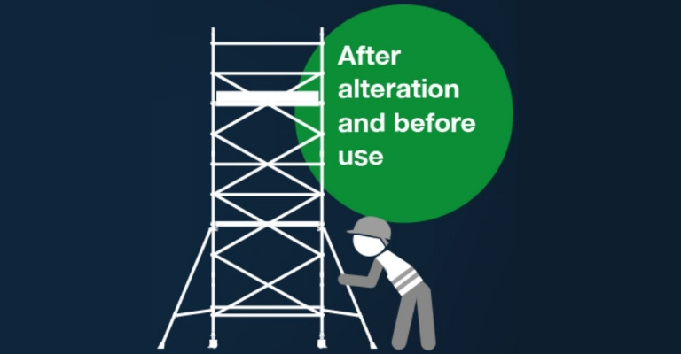 Tower inspect and record - after alteration and before use