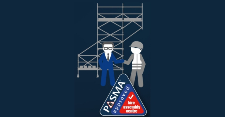 Make sure towers are assembled by a PASMA Hire& Assembly member