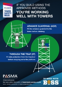 PASMA Tower Safety Week - using approved tower build methods
