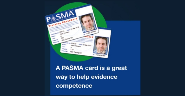 A PASMA card is a great way to help evidence competence