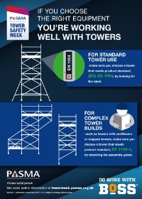PASMA Tower Safety Week - choose the right equipment