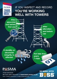 PASMA Tower Safety Week - inspect and record