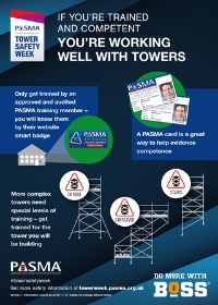 PASMA Tower Safety Week - PASMA trained and competent